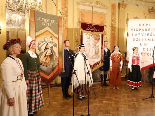 XXVI Vispārējie latviešu Dziesmu un XVI Deju svētku karogu godināšana