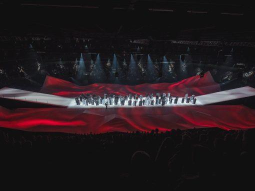 Multimediāla deju lielizrāde «Abas malas» — Latvijai 100