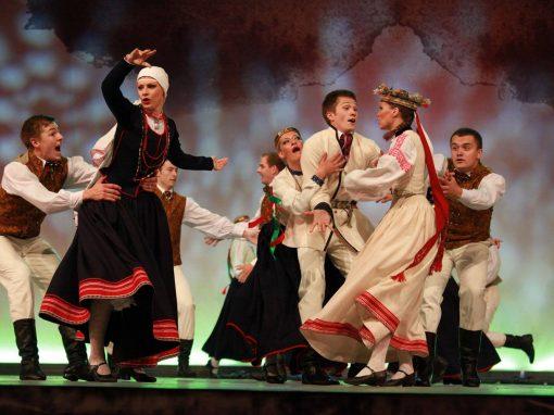 Deju kolektīvu fināla konkurss. DA Daiļrade A.Daņiļēviča deja Šķiratiesi zosu pulki – 2013